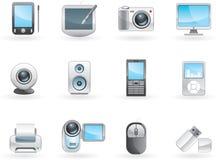Positionnement de l'électronique de Digitals Image stock