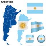 Positionnement de l'Argentine. illustration stock
