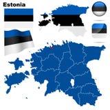 Positionnement de l'Estonie. Images libres de droits