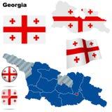Positionnement de la Géorgie. illustration libre de droits