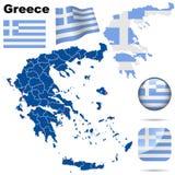 Positionnement de la Grèce. Photographie stock libre de droits