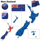 Positionnement de la Nouvelle Zélande. Photographie stock libre de droits