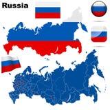 Positionnement de la Russie. Photos stock