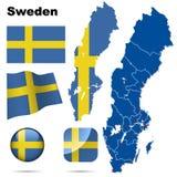 Positionnement de la Suède. Image stock