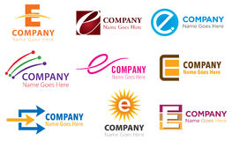Positionnement de logo d'E illustration stock