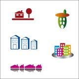 Positionnement de logo de construction Photos libres de droits