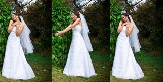 Positionnement de mariée images libres de droits