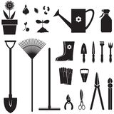Positionnement de matériel de jardin Photographie stock