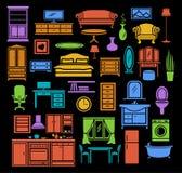 Positionnement de meubles Photos libres de droits