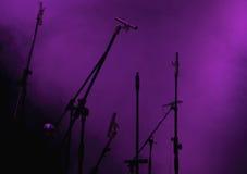 Positionnement de microphone photo stock