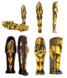 Positionnement de momie de pharaon| D'isolement Images stock