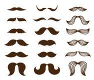 Positionnement de moustache Image stock