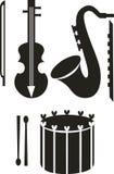 Positionnement de musique illustration stock