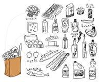 Positionnement de nourriture illustration libre de droits