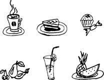 Positionnement de nourriture Photo libre de droits