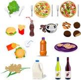 positionnement de nourriture de boissons de ramassage illustration stock