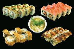 Positionnement de nourriture du Japon d'isolement Image libre de droits