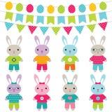 positionnement de Pâques de lapins Illustration Stock