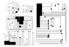 Positionnement de papeterie pour votre conception Image stock