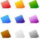 Positionnement de papier coloré illustration de vecteur