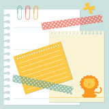 Positionnement de papier de note Image stock