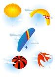 positionnement de parachute Photos libres de droits