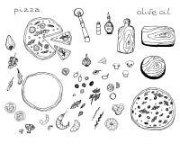 Positionnement de pizza Images libres de droits