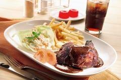 Positionnement de poulet de poivre noir Photo stock