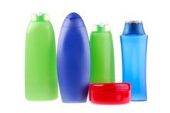 positionnement de produit de beauté de bouteilles Images libres de droits
