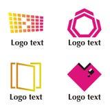 positionnement de quatre logos Photo libre de droits
