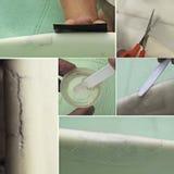 Positionnement de réparation de planche de surfing Images libres de droits