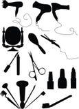 Positionnement de renivellement et de coiffure Images libres de droits