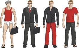 Positionnement de robe d'hommes d'affaires Image libre de droits