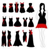 Positionnement de robe de femme illustration de vecteur