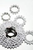 Positionnement de roue de réseau de vélo de montagne Photos stock