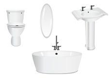 Positionnement de salle de bains, vecteur de cdr Photographie stock