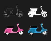 Positionnement de scooter Photos stock
