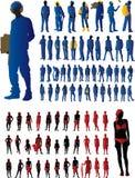 Positionnement de silhouette Images libres de droits