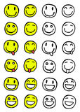 Positionnement de smiley Photographie stock