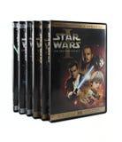 Positionnement de Star Wars DVD images stock