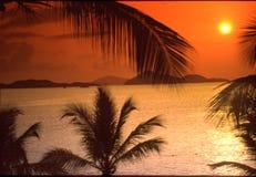 Positionnement de Sun d'île de Vierge Photographie stock