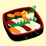 Positionnement de sushi. illustration stock