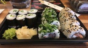 Positionnement de sushi images libres de droits