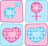 Positionnement de symbole d'hommes et de femmes Images stock