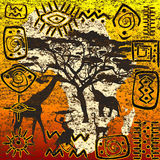Positionnement de symboles africain Photographie stock