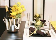Positionnement de table de décor Images stock