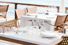 positionnement de table de restauration Photo libre de droits