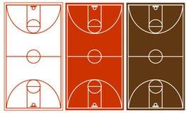 Positionnement de terrain de basket illustration de vecteur