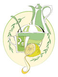 Positionnement de thé Photo libre de droits