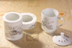 Positionnement de thé blanc photo stock